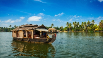 Houseboat on Kerala backwaters.