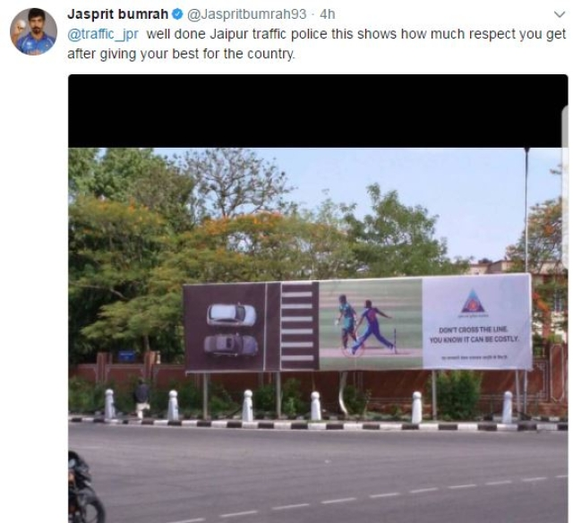 Bumrah's tweet. (Photo Courtesy: Twitter/Jasprit Bumrah)