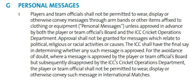 "ICC Code of Conduct. (Source: <a href=""https://www.icc-cricket.com/about/cricket/rules-and-regulations/playing-conditions"">ICC</a>)"