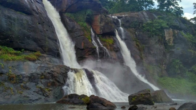 Athirapally waterfalls, the place where the movie Bahubali was shot.