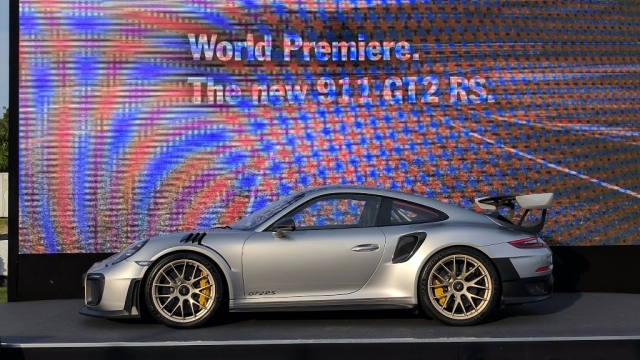 Porsche 911 GT2 RS unveiled at the Goodwood.