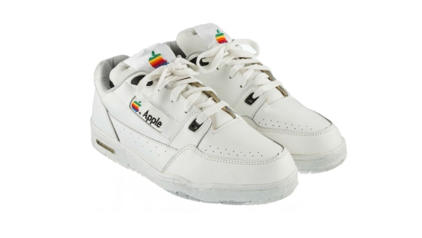 The rare Apple shoes that will be sold for big money very soon. (Photo Courtesy: Apple Insider)