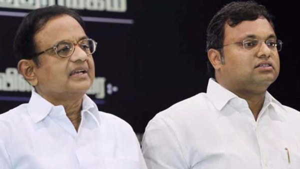P Chidambaram and son Karti.