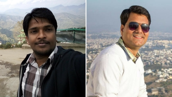 IAS aspirants Avinash Singh (left) and Ashutosh Dwivedi. (Photo: Facebook/<b>The Quint</b>)