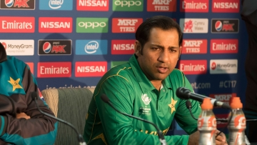 File photo of Sarfraz Ahmed speaking to the media.