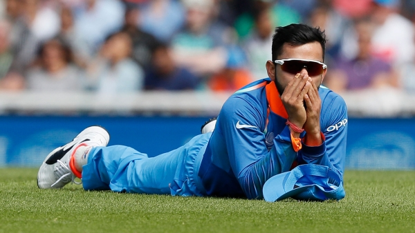 India's captain Virat Kohli during the Champions Trophy match against South Africa (Photo: AP)