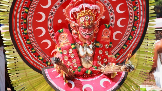 Theyyam performance.