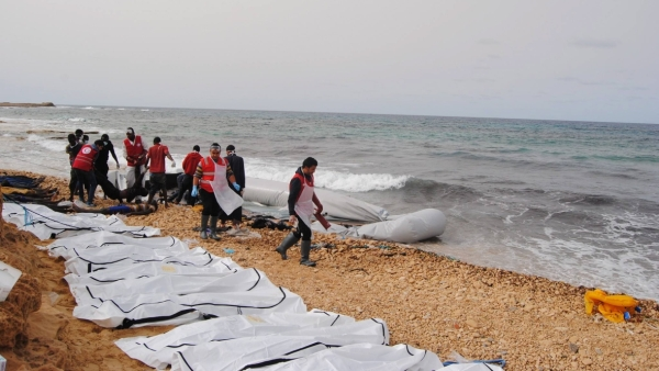 Bodies of 24 people were found floating off the Tripoli Coast. (Photo: Ruptly)