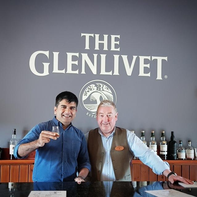 At the Glenlivet tasting room.