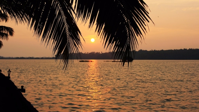 Sunset over backwaters.