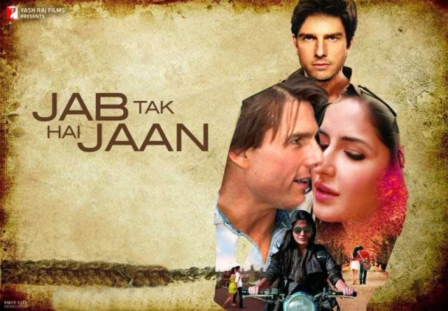 Tom Cruise courting Anushka and Katrina in <i>Jab Tak Hai Jaan.</i>