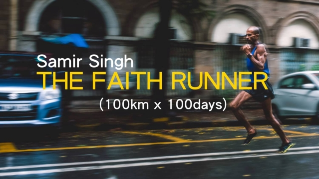 Samir Singh running for long hours to achieve his 10,000*100 target