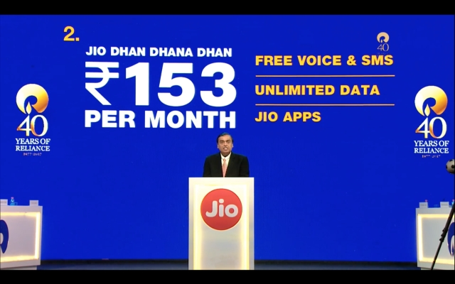 New data plans for Jio feature phone users.