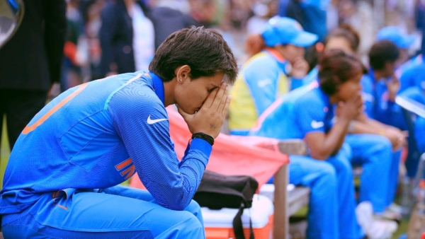 India's Mansi Josh  after India lost the ICC Women's World Cup final match against England