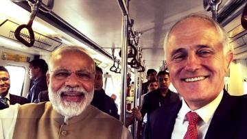 PM Modi and Australian PM Malcolm Turnbull.