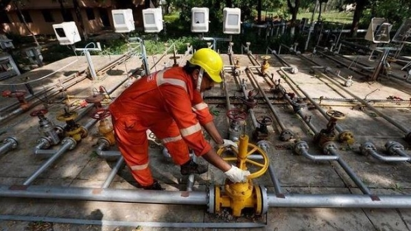 An ONGC employee at work.