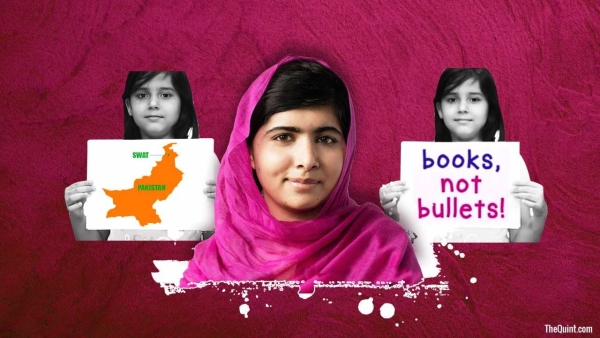 Picture of Malala Yousafzai (centre), and author of the article, Nishtha Gautam's daughter Nyasa, used for representational purposes.