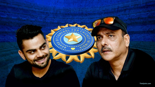 File photo of Virat Kohli (L) and Ravi Shastri (R).