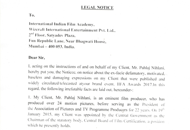 Copy of the legal notice.