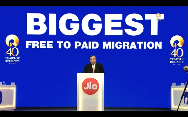 Reliance Jio claims to another record.