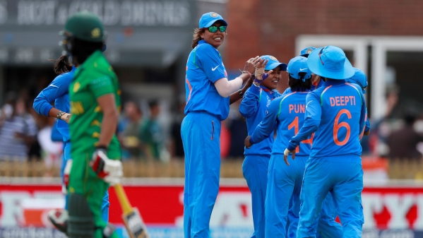 India beat Pakistan by 95 runs in the Women's World Cup match on Sunday.