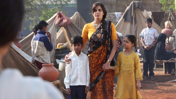 Kirti Kulhari in a still from <i>Indu Sarkar.</i>