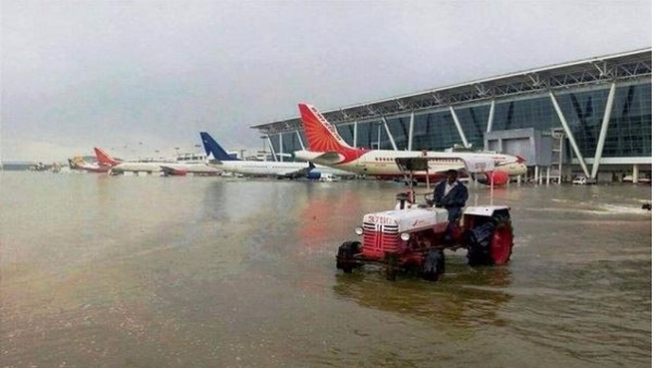 This 2015 photo of the Chennai floods was passed off as that of the Ahmedabad floods by many news outlets.