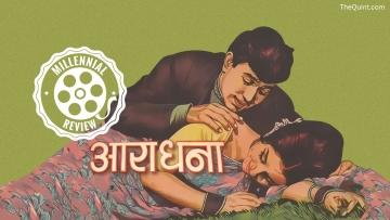 Rajesh Khanna and Sharmila Tagore on the poster of <i>Aradhana.</i>
