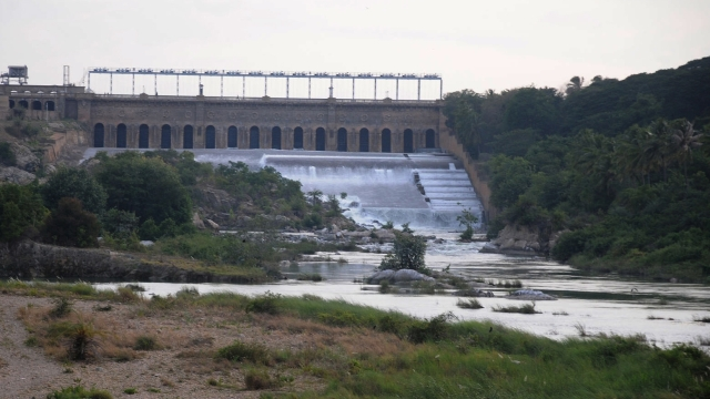 Karnataka's Cauvery basin reservoir.