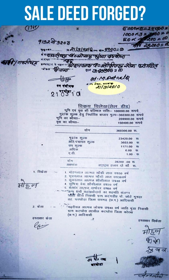 It was Sunday, on the date 21 March 2010 as shown in the sale deed above.