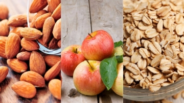 Nuts, apples and oats are natural appetite suppressants.