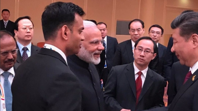 PM Modi and Chinese President Xi Jinping meet on the sidelines of the G20 Summit in Hamburg.