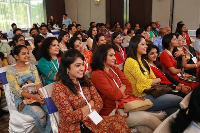 Malayalam actresses at the AMMA meeting.