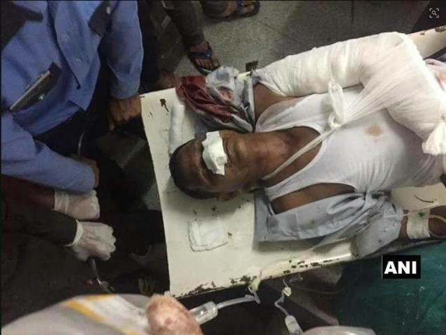 An injured pilgrim.