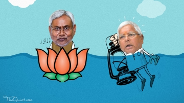 Nitish has secured his political future by joining the BJP's bandwagon, as he has realised the strength of Modi wave.