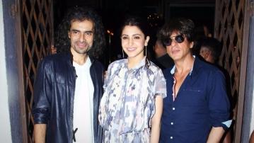 Imtiaz Ali, Anushka Sharma and Shah Rukh Khan promoting <i>Jab Harry Met Sejal.</i>
