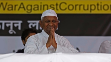 File picture of Anna Hazare.