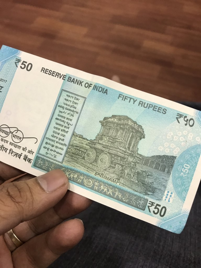 Photo shared by one of the first bearers of the new Rs 50 note.