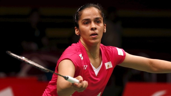 Indian shuttler Saina Nehwal crashed out of the China Open after a first round loss to Thailand's Busanan Ongbamrungphan.