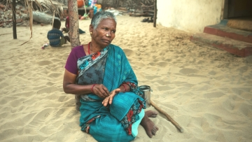 Muthukaraupayi, 52 was abandoned by her husband 24 years ago for another woman without any legal divorce or compensation. She has been working as a fisherwoman to support her two daughters.