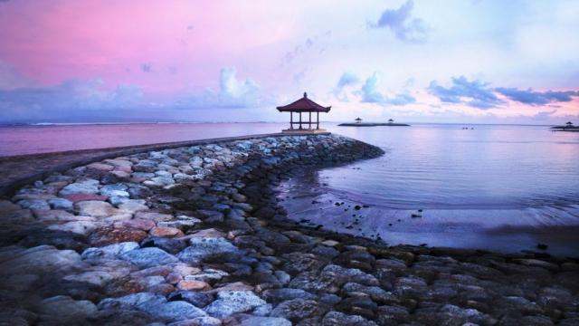 Sunset in Bali.