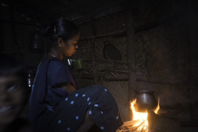 The family is dependent on the daily earning for buying their grocery for the day. Even one day of loss might mean no food on the table. Amudha cooks on a wood stove, which is extremely unhealthy.