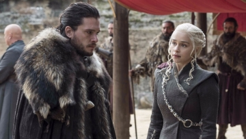 A still from the finale episode of <i>Game of Thrones</i>, <i>The Dragon and The Wolf.</i>