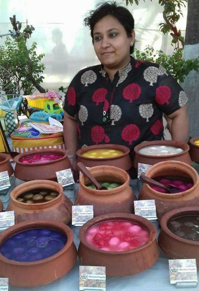 Swati Saraf at one of her stalls.