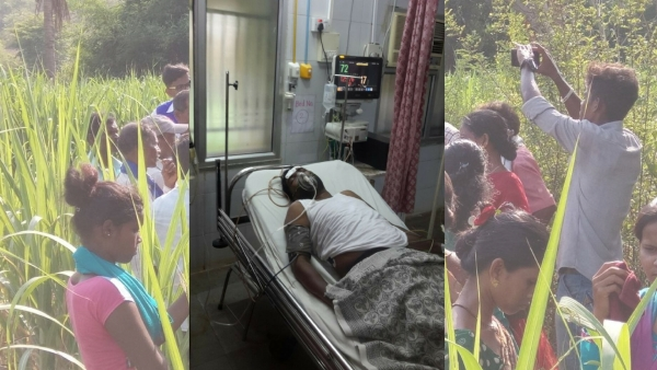 Dalit leader Tanaji Kamble, 50, who is now recuperating at a hospital after the assault.