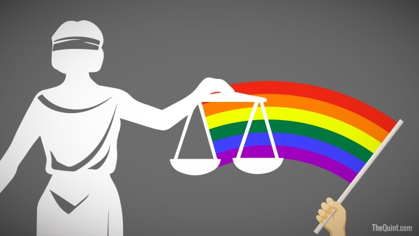 An artist's impression of the LGBTQ+ community's fight for justice.