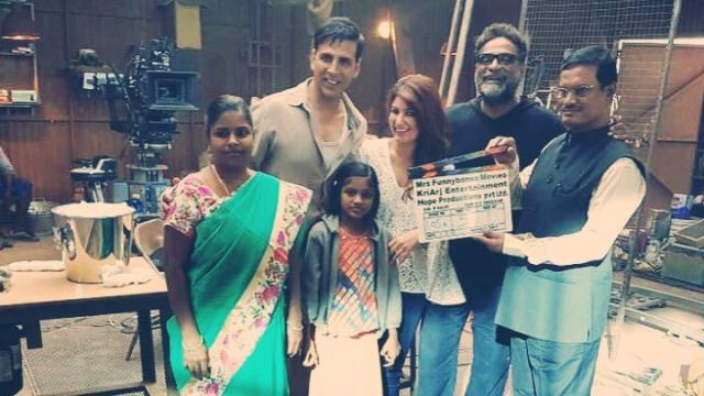 Akshay Kumar, Twinkle Khanna and R Balki with the real hero of <i>PadMan</i>, Arunachalam Muruganantham.