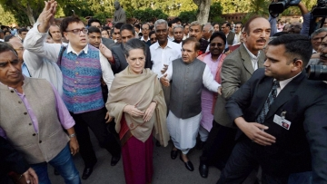 A gathering of opposition leaders including Sonia Gandhi, Sharad Yadav and Derek O'Brien.