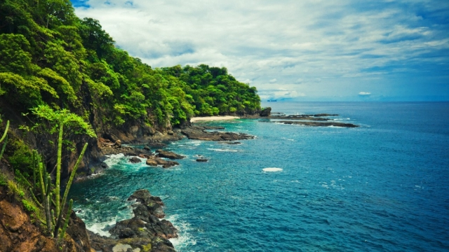 Costa Rica coast line.