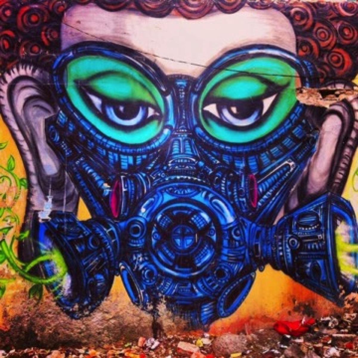 Image result for khirki village graffiti